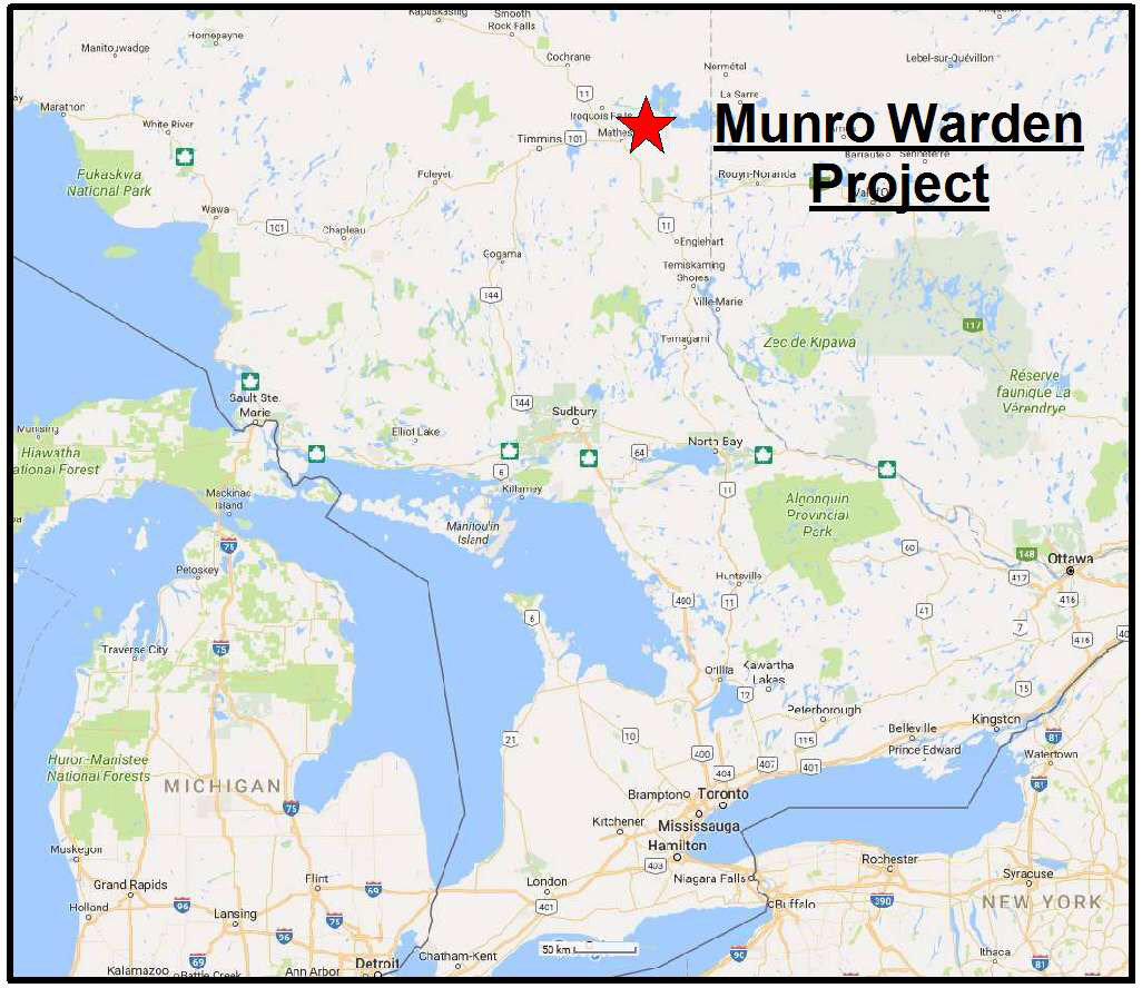 Munro Warden, ON | Searchlight Resources Inc